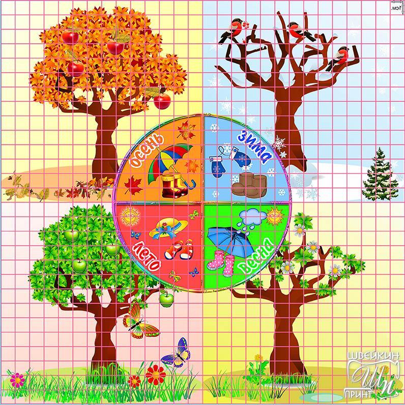 Изучение с ребенком времен года картинки